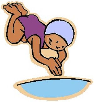 Swim And Dive Team Clipart.
