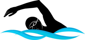 Swimming freestyle clip art.