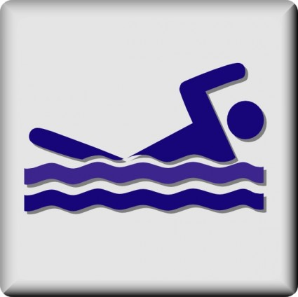 Swimming Backstroke Clipart.