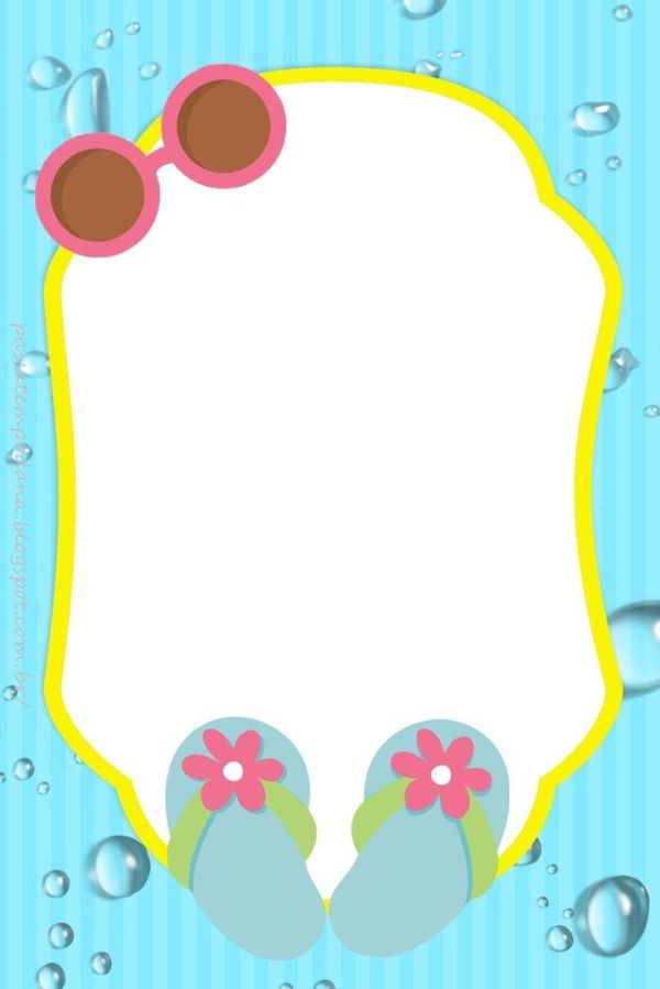 Pool Party Border Clipart.
