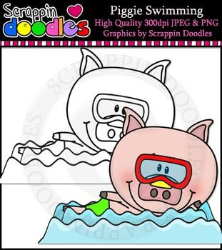 swimming clipart color #2