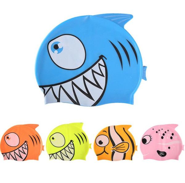 2019 Cute Baby Silicone Swimming Cap Cartoon Fish Clownfish Elastic Swim  Cap Cute Boy Girl Swim Pool Bath Elastic Durable Hat Infant Bath Caps From.