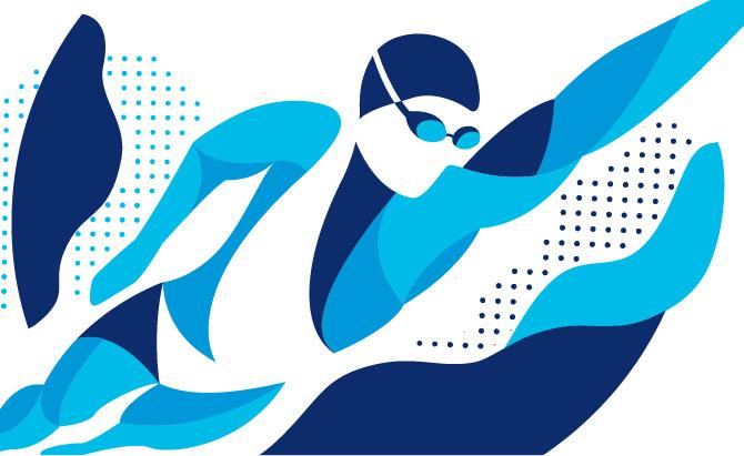 Swim Graphics.