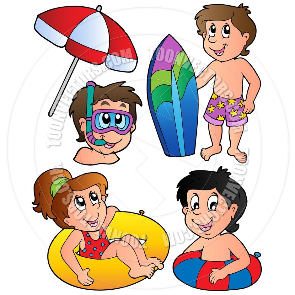 Kids Swimming Pool Clipart.