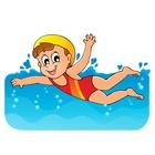 Kids Swimming Animated.