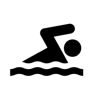 Swimmer competitive swimming clipart black and white.