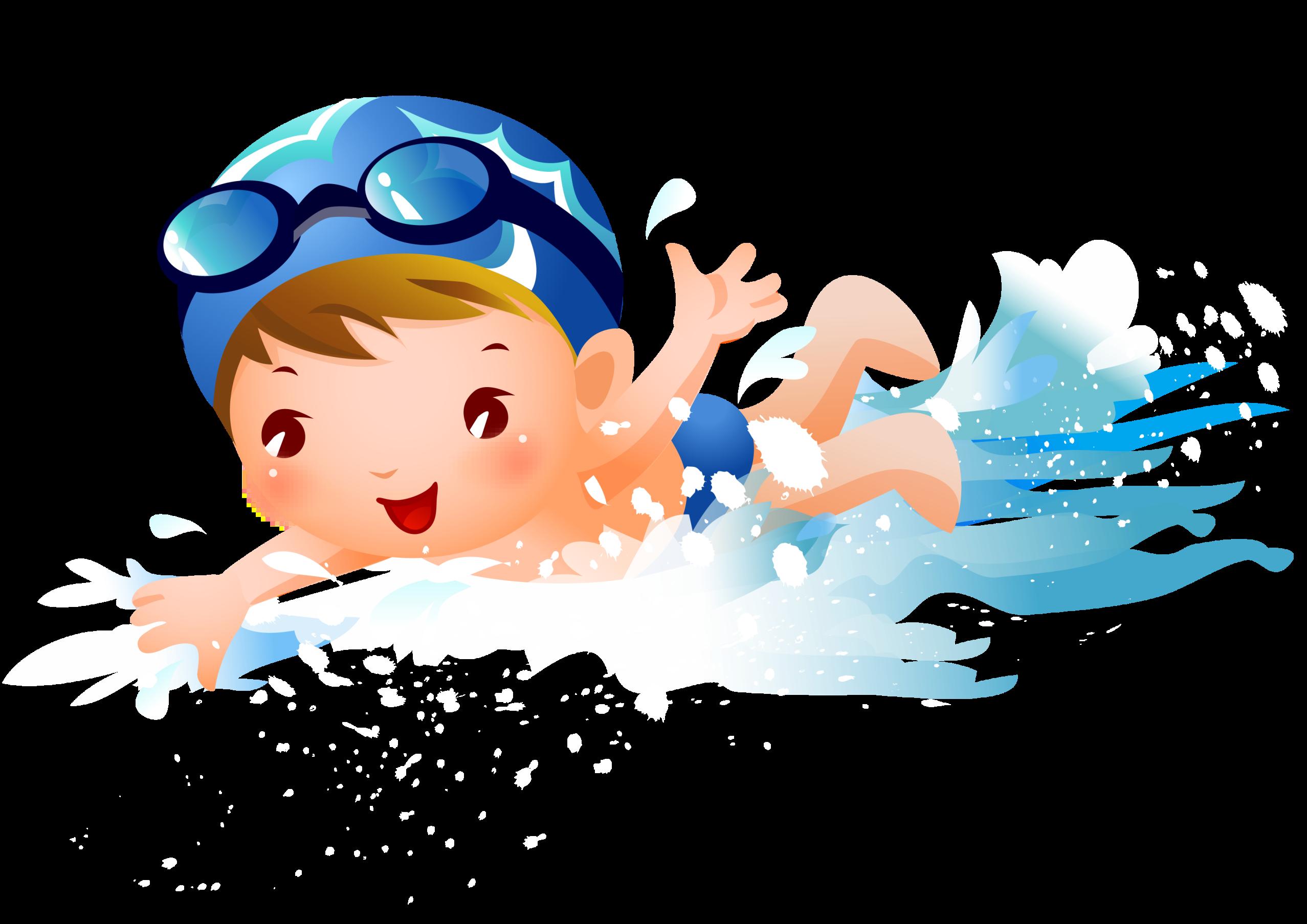 Swimming Child Clip art.