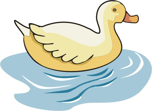 Clip Art Swimming Duck.