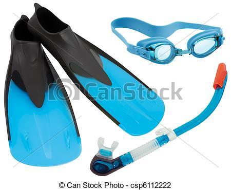 Stock Photo of Swimming gear cutout.