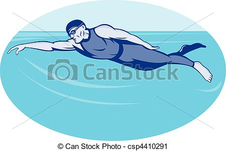 swimming freestyle clip art #10