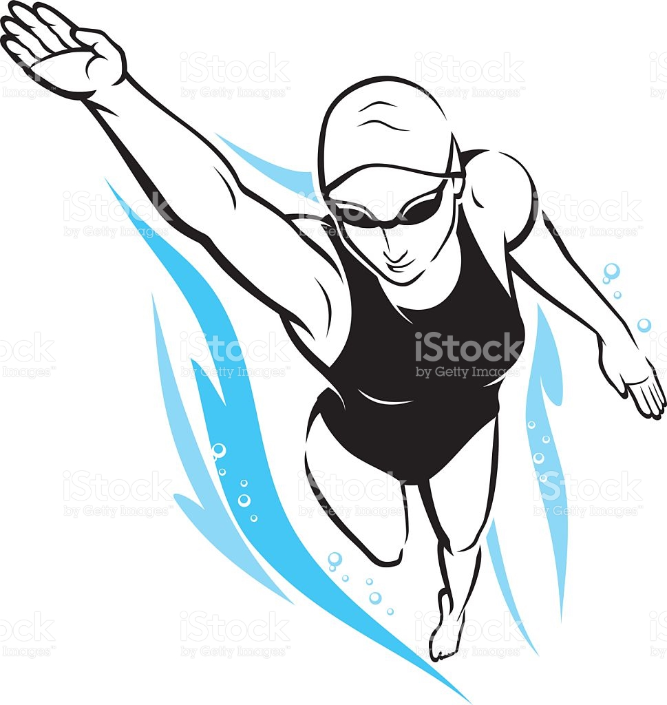 Woman Swimming Clip Art, Vector Images & Illustrations.
