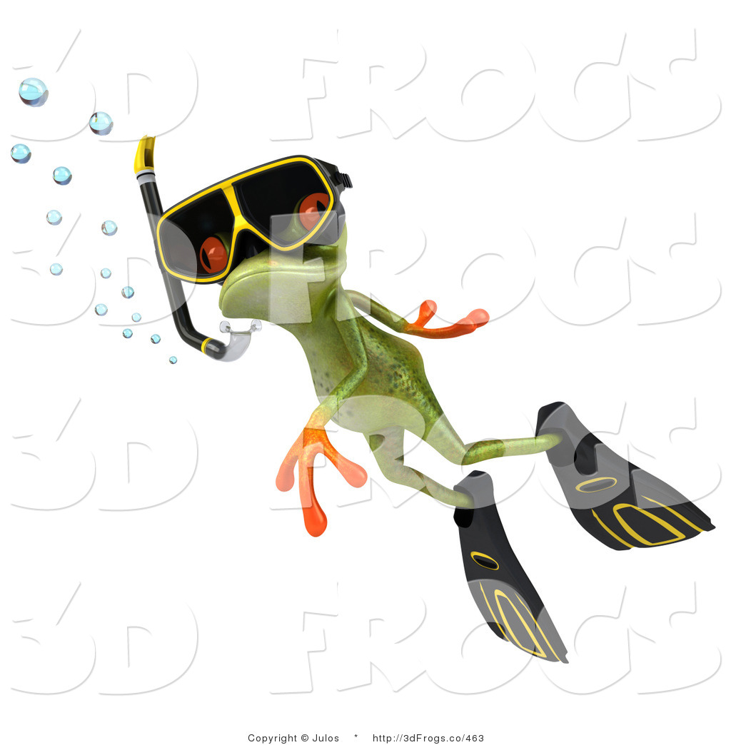 Royalty Free Swimming Stock 3d Frog Designs.