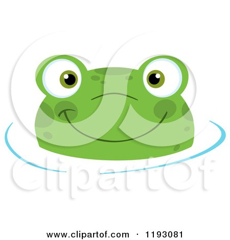 Gallery For > Swimming Frog Clipart.
