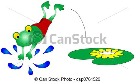 Stock Illustration of Swimming Frog Graphic.