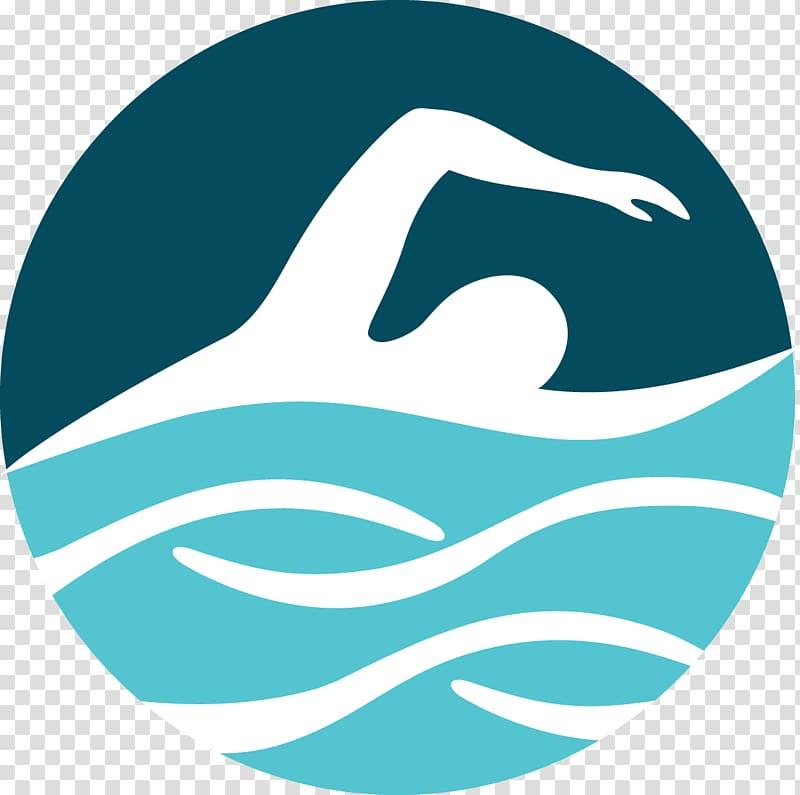 Person swimming logo, Open water swimming Marathon swimming.