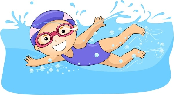 swimming phase clipart