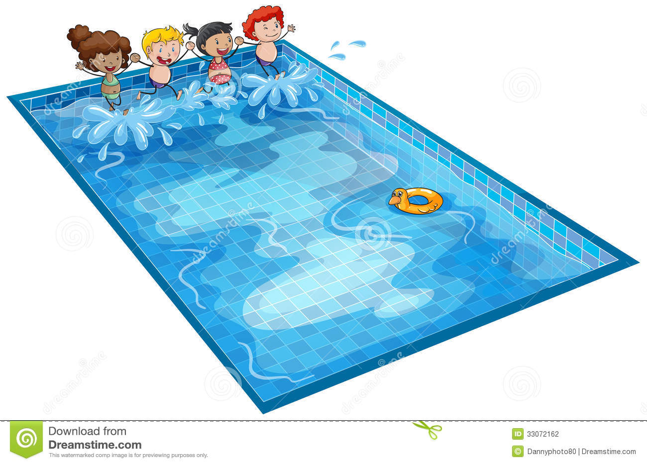 Cartoon swimming pool clipart.