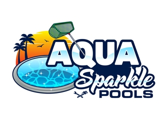 Swimming pool logo design for only $29!.