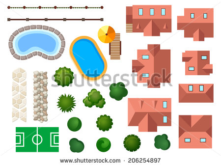 Swimming Pool Shape Stock Images, Royalty.