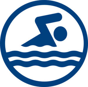 Swim Logo Icon Clip Art.