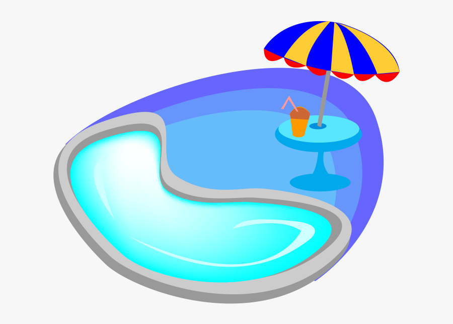 Swimming Cartoon Blue Transprent.