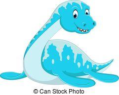 Animal cartoon dinosaur illustration lizard ocean reptile Clipart.