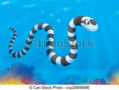 Stock Illustration of Sea snake.