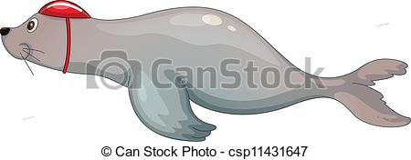 EPS Vector of cartoon animal.