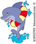 Dolphin Clipart and Stock Illustrations. 1,466 dolphin vector EPS.