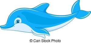 Vector of Swimming Dolphin.