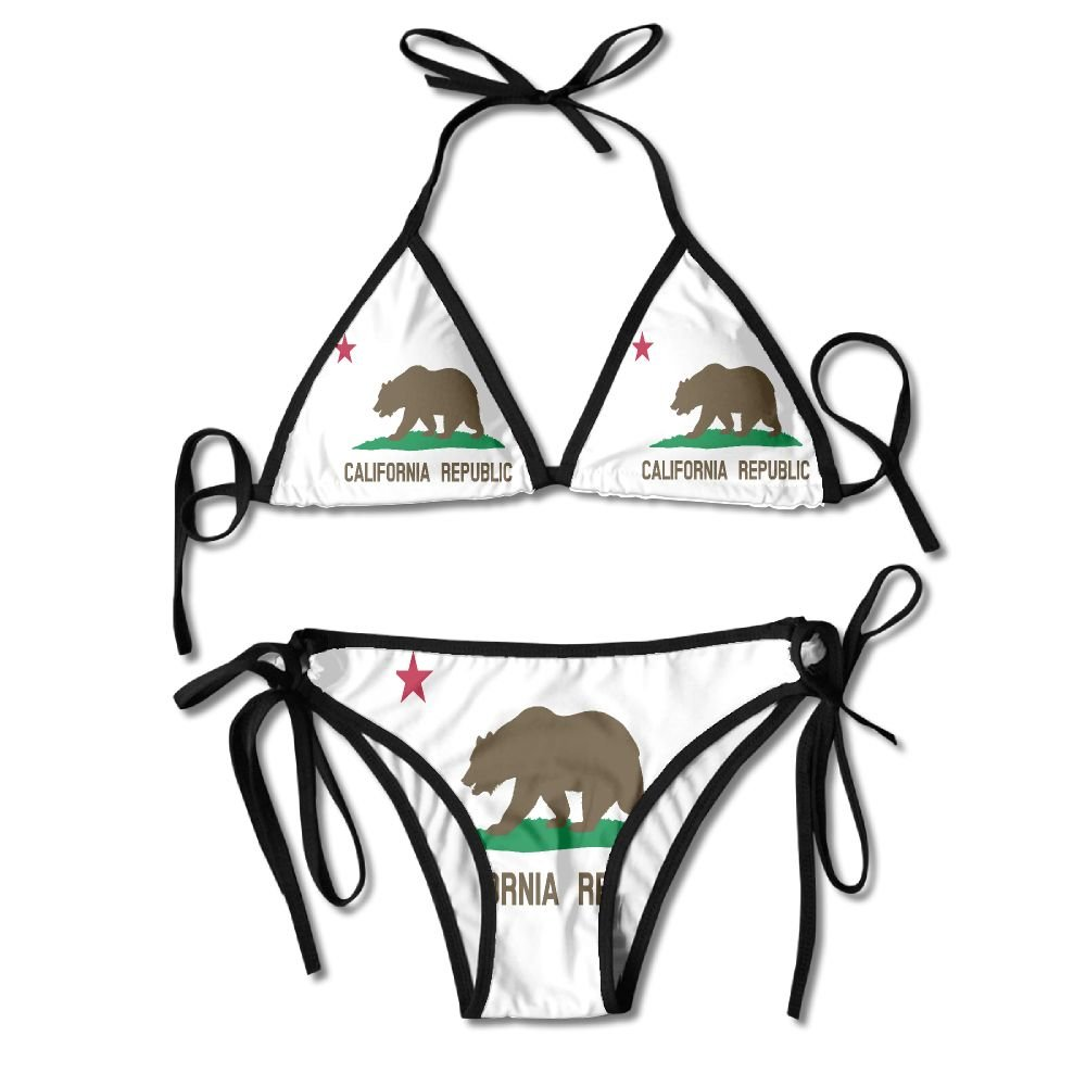 Amazon.com: HenSLK Women Girl Clipart Flag of California.