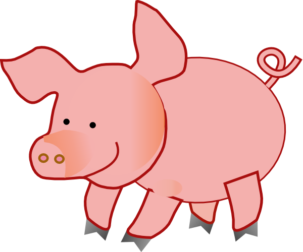 Cute pig clip art.