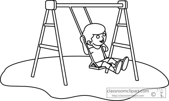 Swing Clipart Black And White.