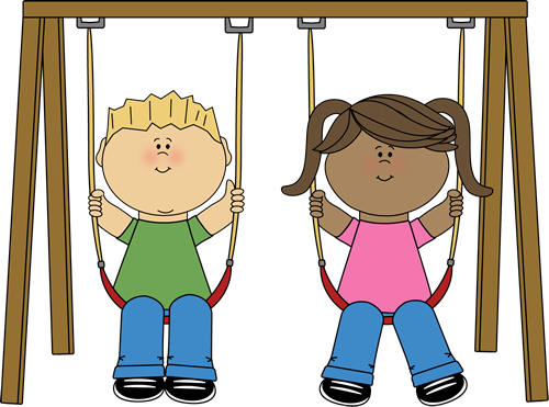 Girl On Swing Clipart.