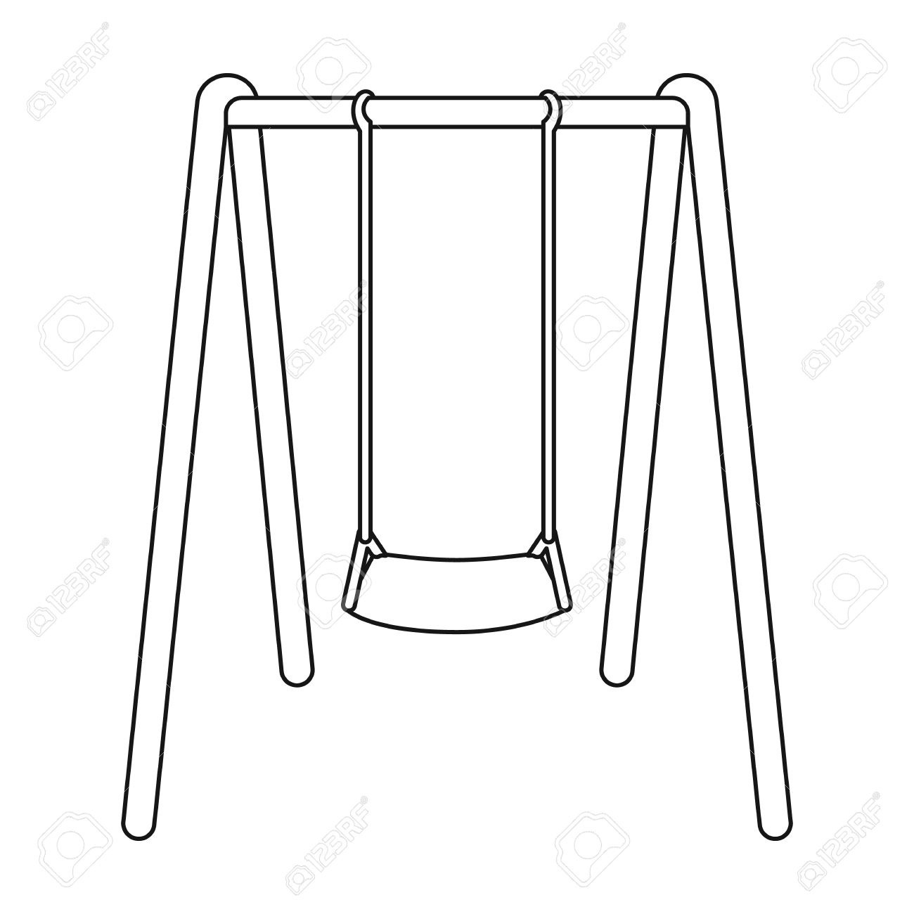 Swing Clipart Black And White Hd.