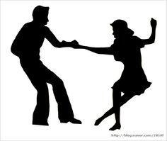 ballroom dancing silhouette swing.
