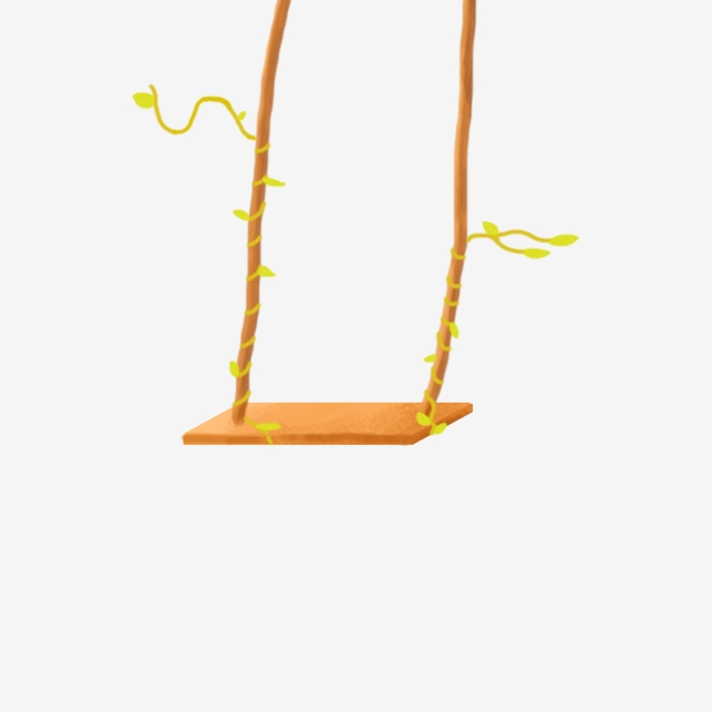 Hand Drawn Swing Green Swing Swing Swing Illustration, Swing.