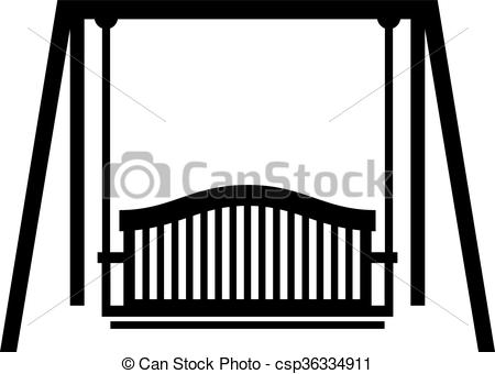 Vector Clip Art of Swing seat, shade picture csp36334911.