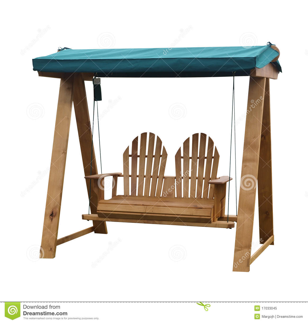 Wooden Garden Swing Seat Royalty Free Stock Photo.