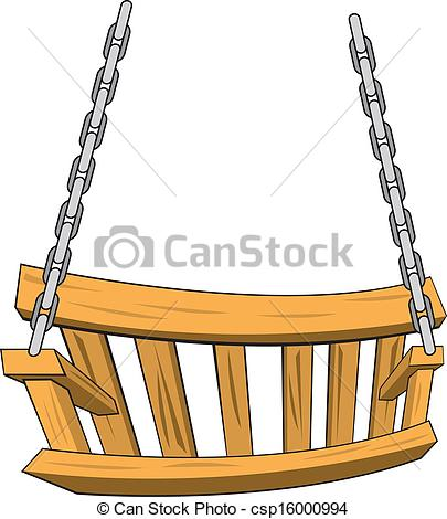 Porch swing clipart.