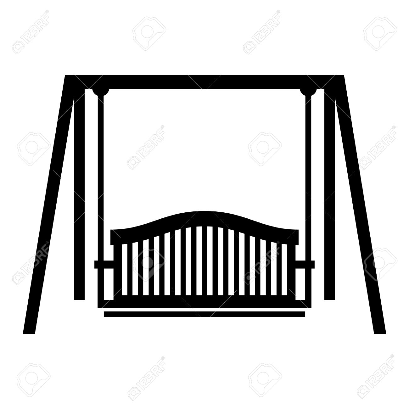 Swing Seat, Shade Picture Royalty Free Cliparts, Vectors, And.