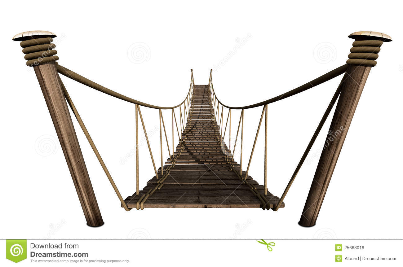 Rope Bridge Royalty Free Stock Image.