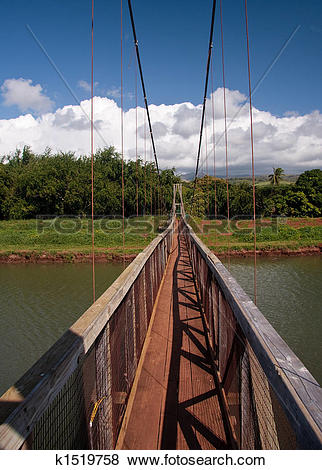 Pictures of Hanapepe Swinging Bridge in Kauai k1519758.