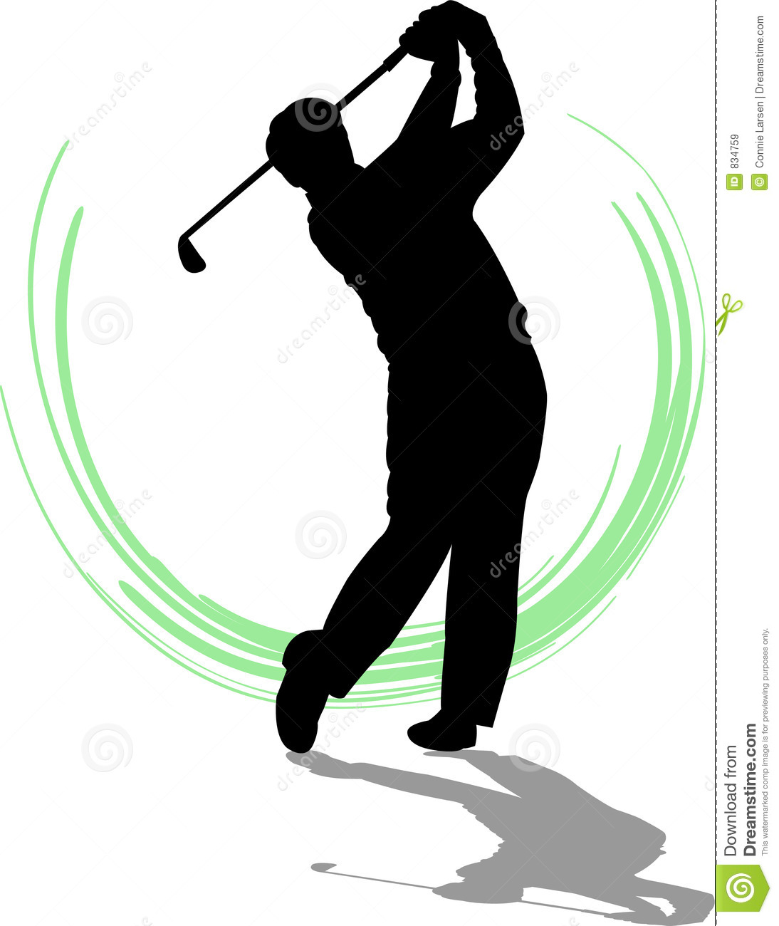 Golfer Man/eps Royalty Free Stock Images.