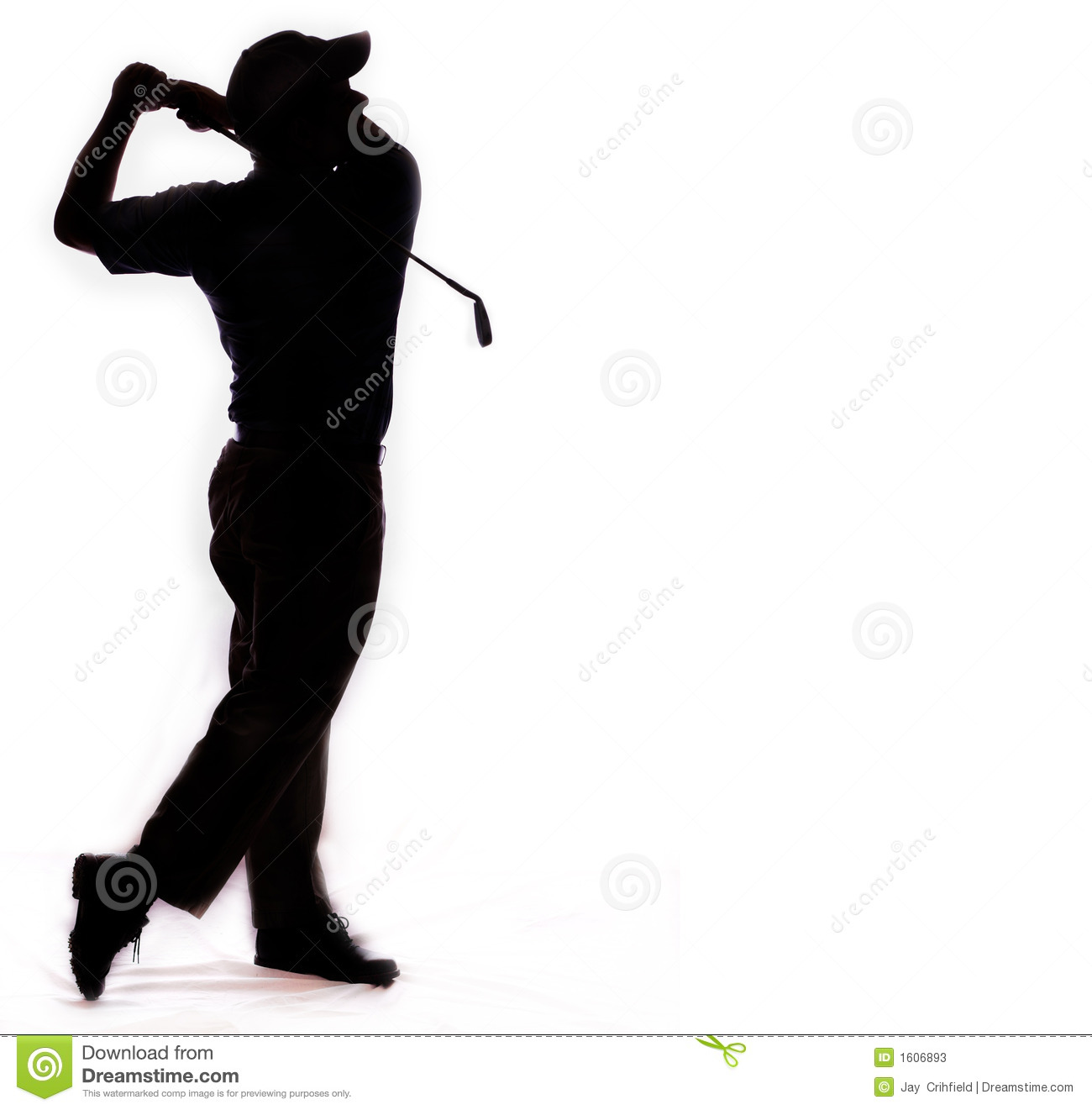 Golf Silhouette Clipart.