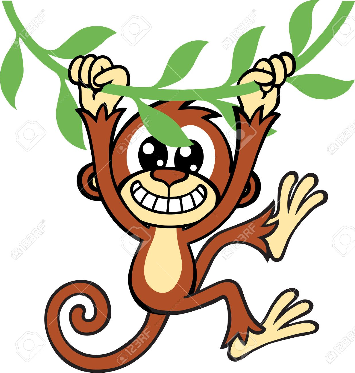 Swinging monkey clipart 6 » Clipart Station.