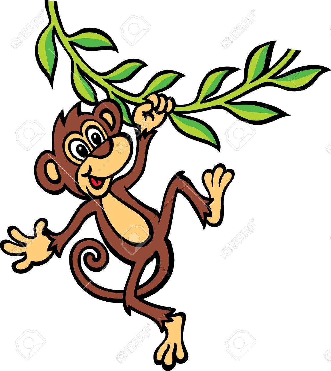 Swinging Monkey Clipart.