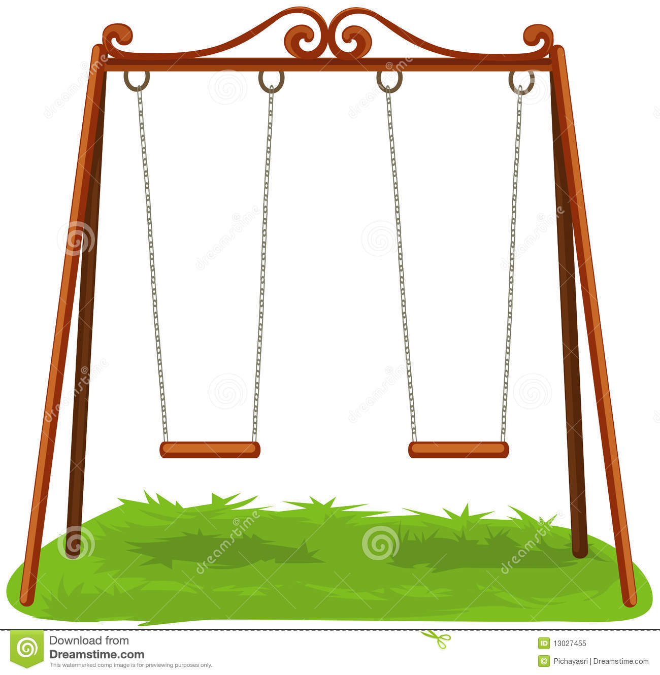 Swings Stock Illustrations.