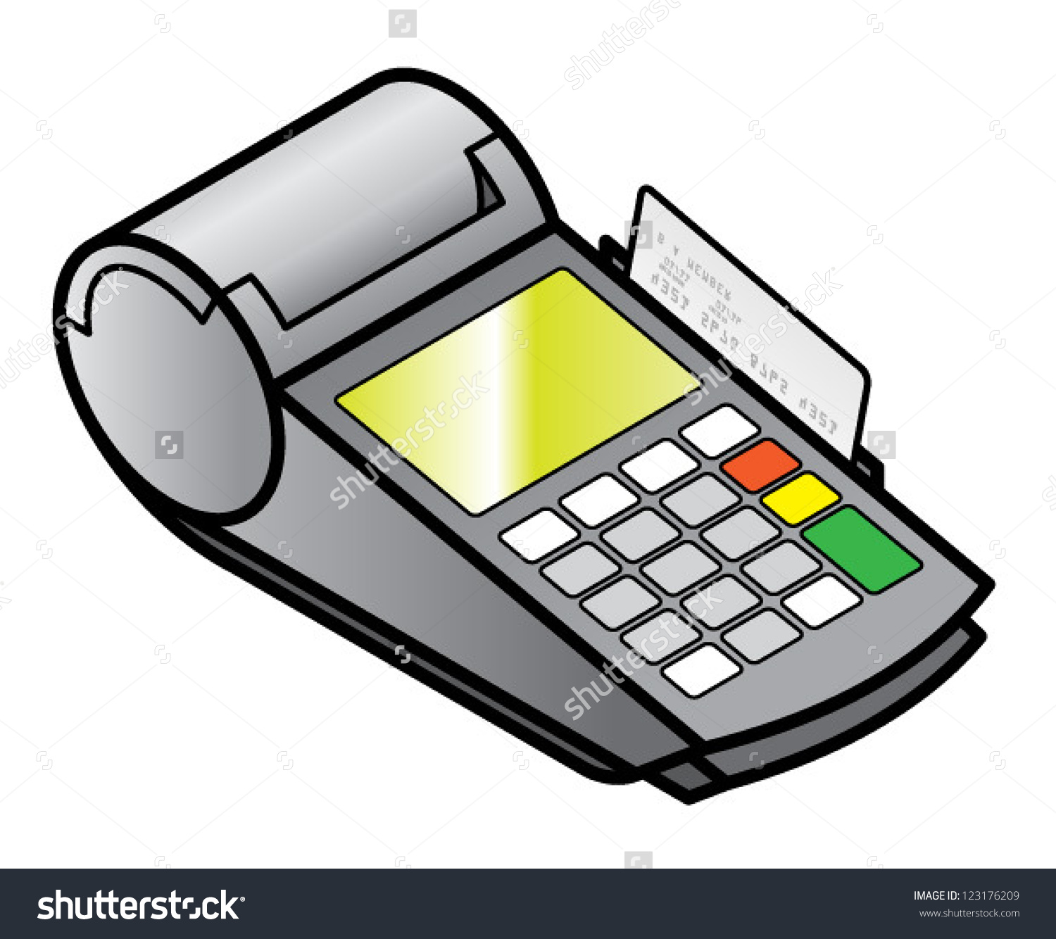 Mobile Handheld Point Sale Pin Pad Stock Vector 123176209.