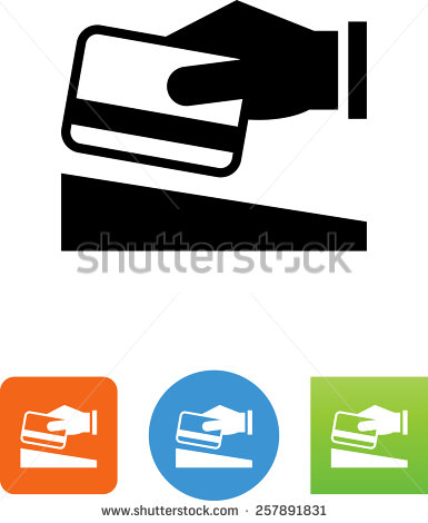 Credit card swipe clipart.